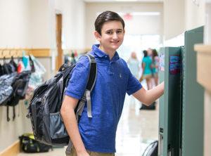 Boy at Locker
