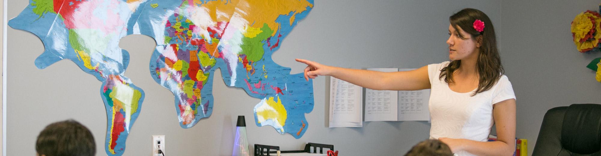Teacher Teaching Geography